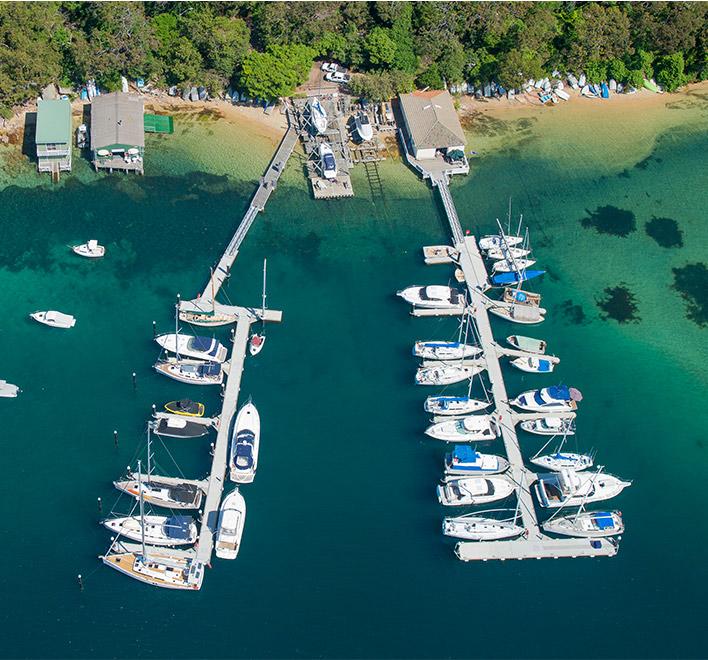 Davis Marina Berth aerial